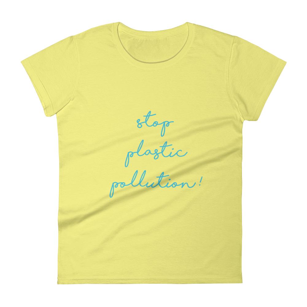 Stop Plastic Pollution - Women's short sleeve t-shirt