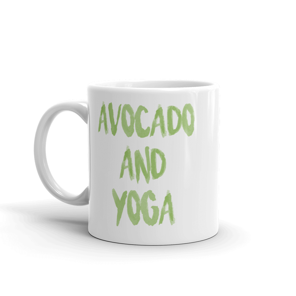 Avocado and Yoga - Mug