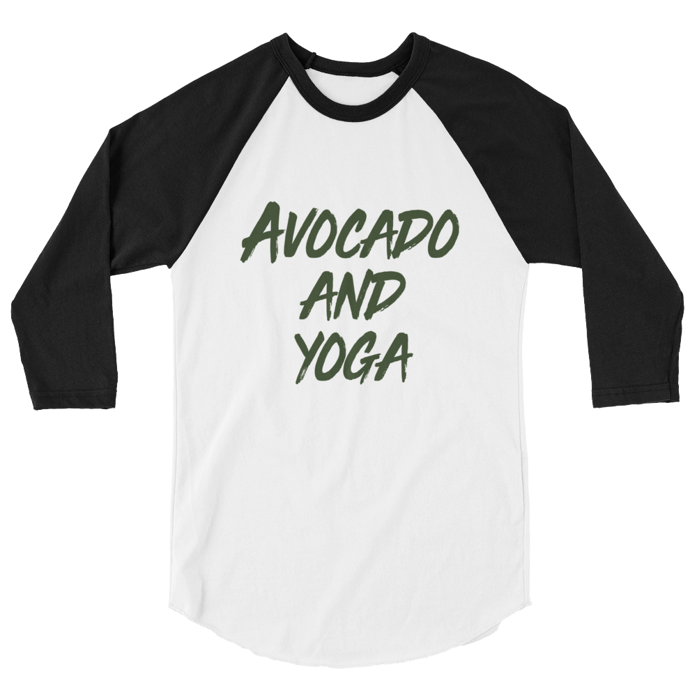 Avocado and Yoga - 3/4 sleeve raglan shirt
