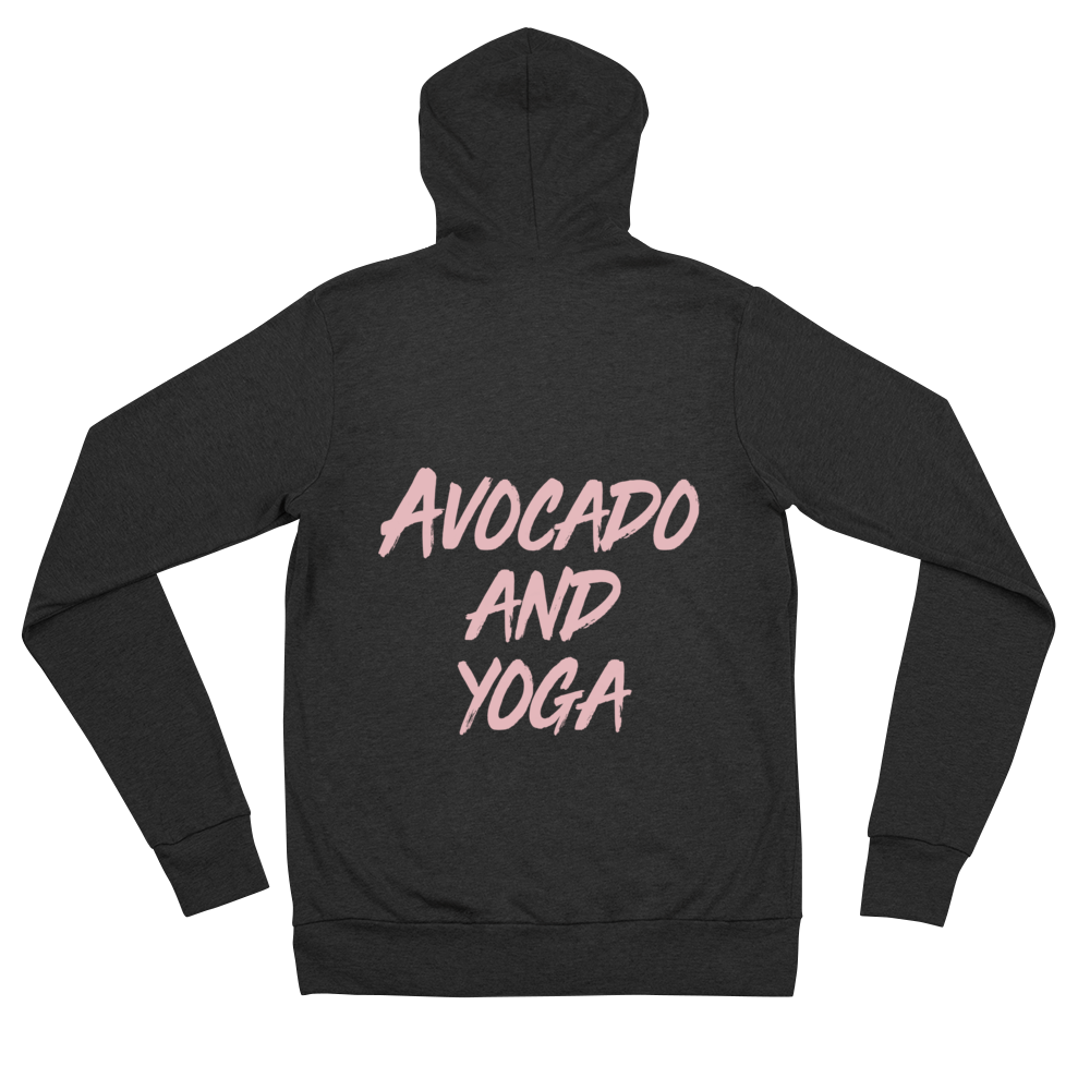 Avocado and Yoga - Unisex Zip Hoodie
