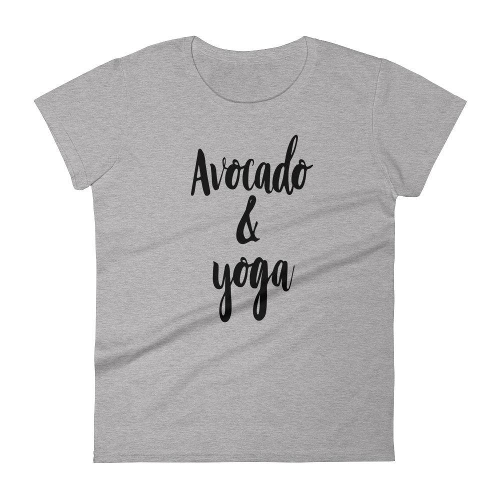 Avocado and Yoga - Women's short sleeve t-shirt