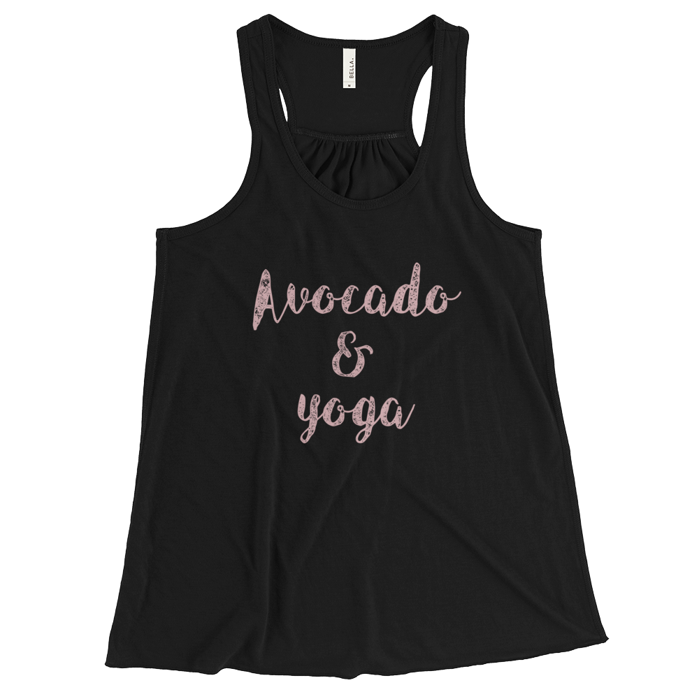 Avocado and Yoga - Women's Flowy Racerback Tank