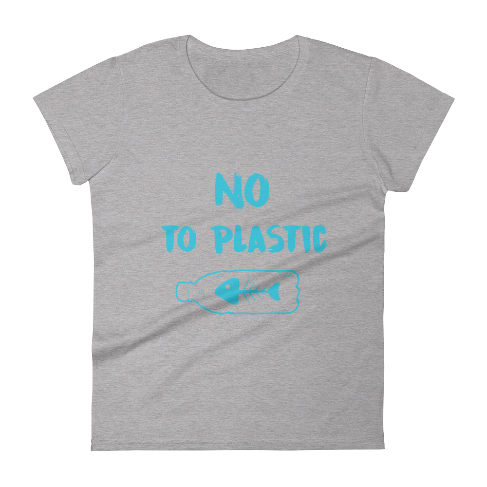 No To Plastic - Women's short sleeve t-shirt