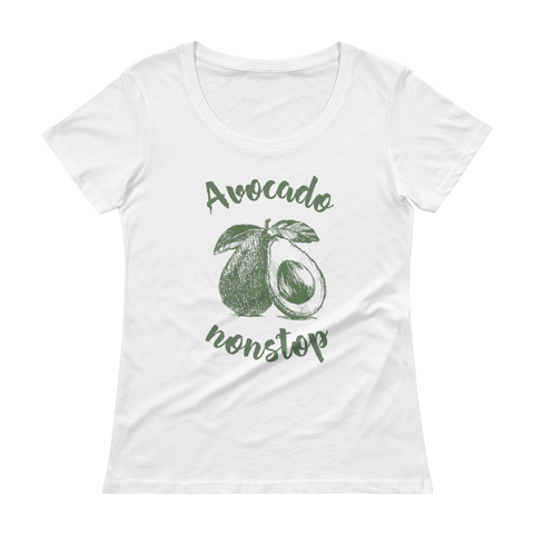 Avocado Will Brighten Your Day - Ladies' Cap Sleeve T-Shirt