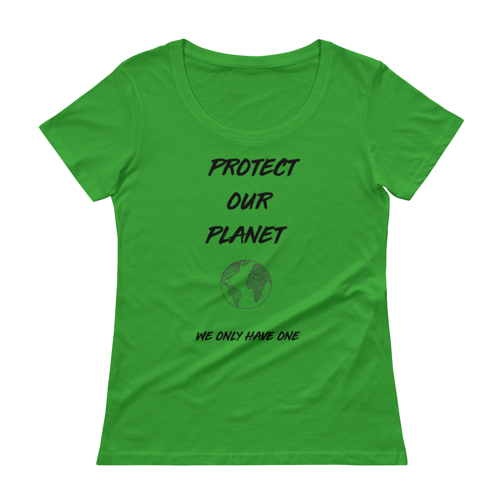 Protect Our Planet - Ladies' Scoopneck T-Shirt