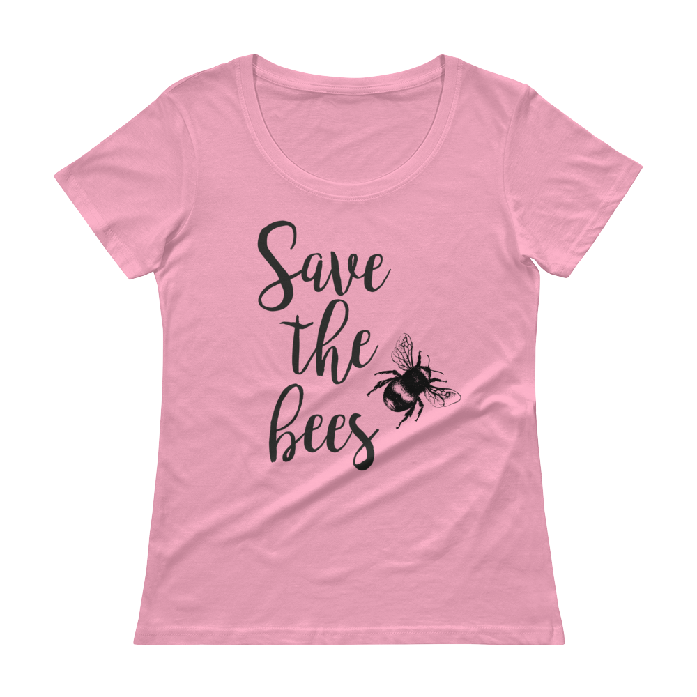 Save The Bees - Ladies' Scoopneck T-Shirt