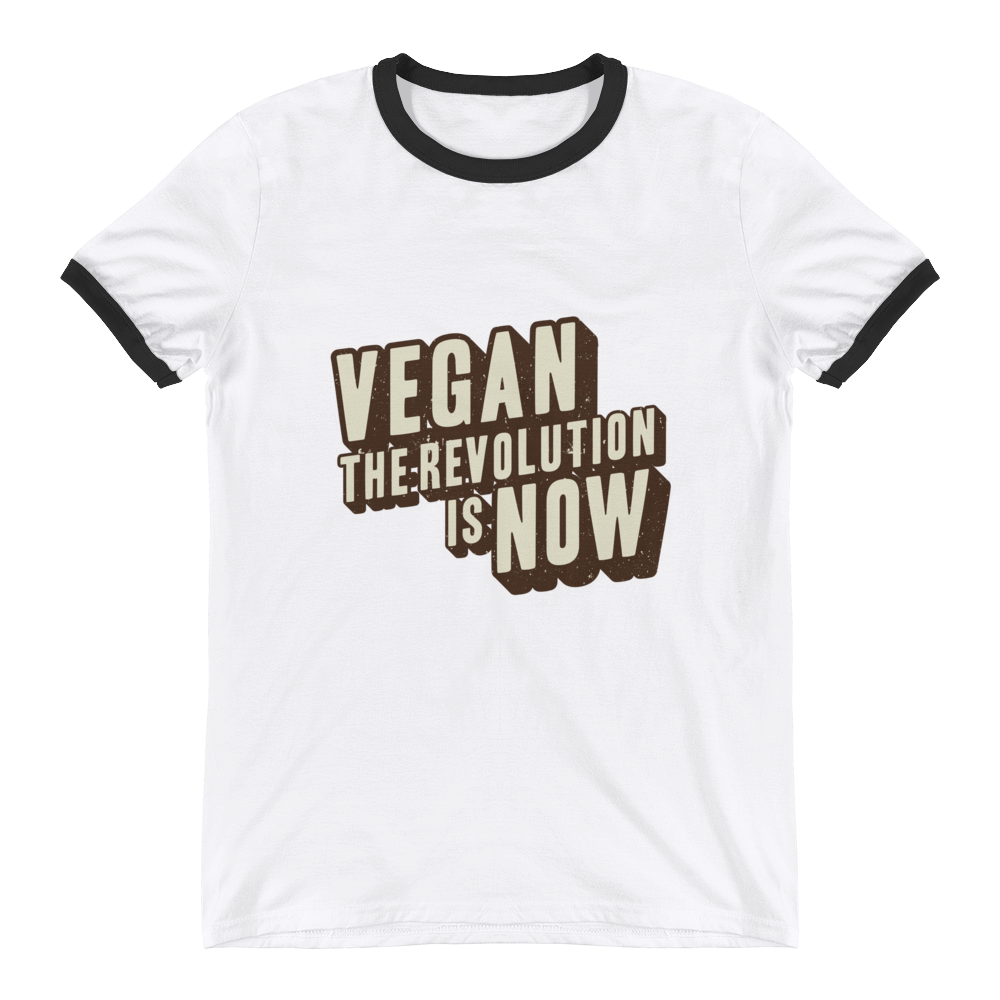 Vegan The Revolution Is Now - Ringer T-Shirt