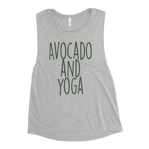 Avocado and Yoga - Ladies' Muscle Tank