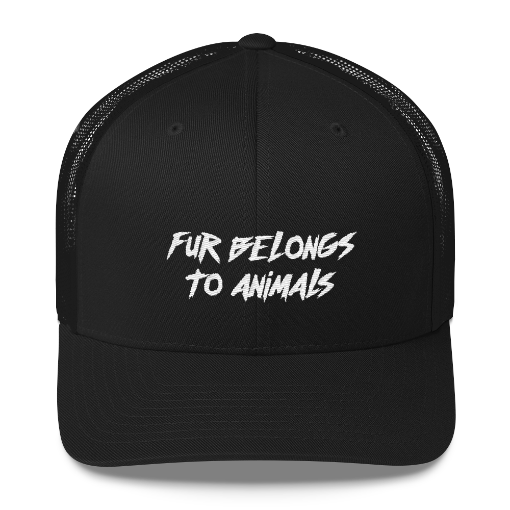 Fur Belongs To Animals - Retro Cap