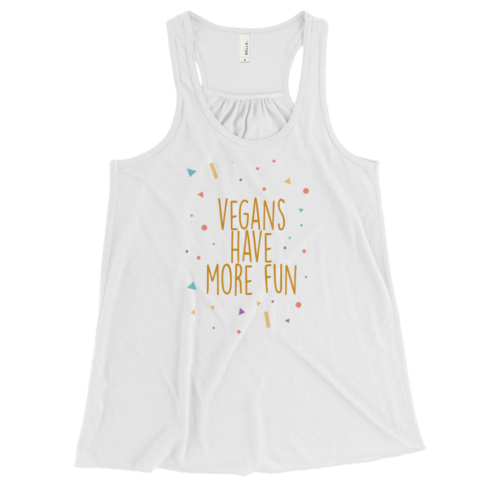 Vegans Have More Fun - Women's Flowy Racerback Tank