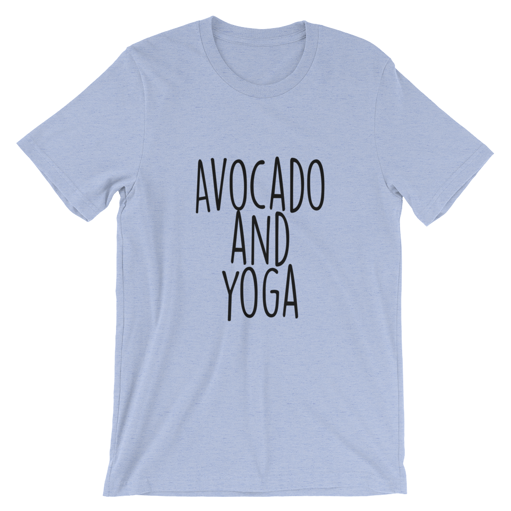 Avocado and Yoga - Short-Sleeve Unisex T-Shirt