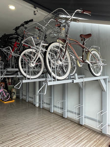UNIVERSAL BIKE PARKING RACK - DOUBLE TIER 2 X 3 BIKES (PREORDER)