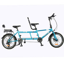 TANDEM FOLDING BIKE 20 INCH 7-SPEED - BLACK OR BLUE SELECTION