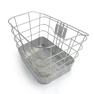 BASKET FRONT SILVER STAINLESS STEEL