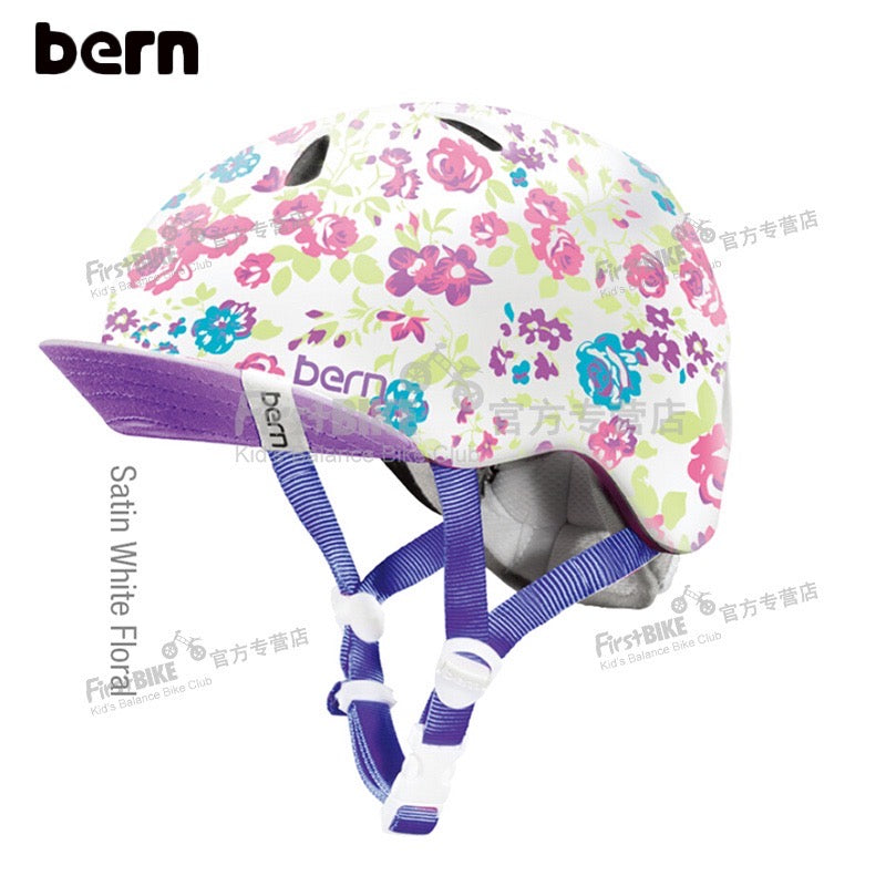 BERN CHILD HELMET - PURPLE FLORET