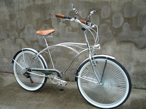 BEACH CRUISER BIKE 26 INCH 7 SPEED CHROME FINISHING - COLLECTION SET