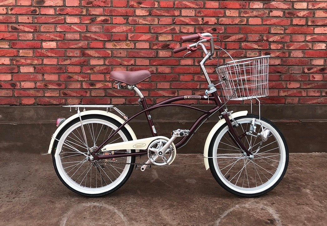 KAWASAKI BEACH CRUISER 20 INCH COFFEE BROWN 6 SPEED