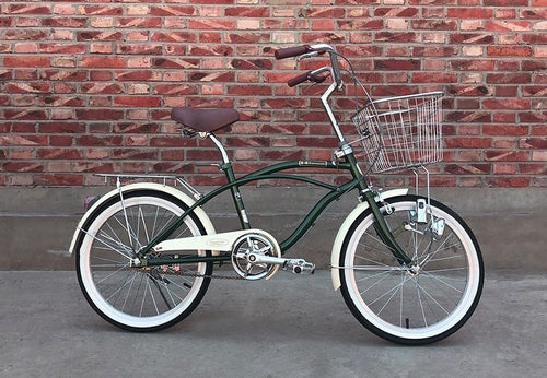 KAWASAKI BEACH CRUISER 20 INCH BLACK 6 SPEED