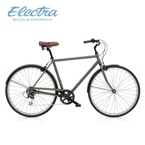 ELECTRA LOFT CLASSIC CITY BIKE 28 INCH MATTE ARMY GREEN 7 SPEED + FREE HEADLIGHT AND BIKE LOCK Q5