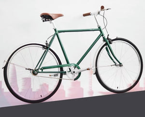 KOLOR CLASSIC CITY BIKE 26 INCH POSTAL GREEN 3 SPEED + FREE HEADLIGHT AND BIKE LOCK Q5