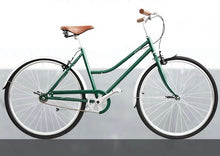 KOLOR CLASSIC LADIES CITY BIKE LOWER BAR 26 INCH BRITISH RACING GREEN 3 SPEED + FREE HEADLIGHT AND BIKE LOCK Q5