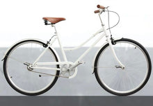 KOLOR CLASSIC LADIES CITY BIKE LOWER BAR 26 INCH WHITE 3 SPEED + FREE HEADLIGHT AND BIKE LOCK Q5