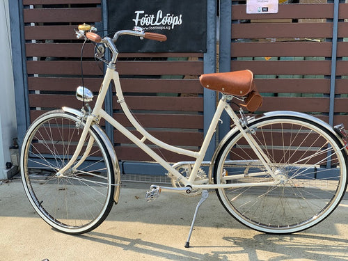 GAZELLE CLASSIC 26 INCH CREAM WHITE 3 SPEED + FREE BIKE LOCK Q5 (PREORDER AVAILABLE MID MAY)