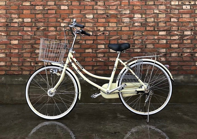 KAWASAKI 24 INCH 3 SPEED VANILLA CREAM YELLOW