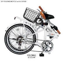 MYPALLAS MF246 FOLD 20 INCH 6 SPEED BLACK - FRONT BASKET AND REAR RACK