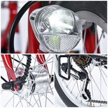 MYPALLAS M204 FOLD 20 INCH 6 SPEED WHITE - FRONT BASKET/ SENSOR LIGHT