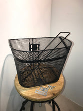 METAL BASKET FRONT WIRE MESH BLACK