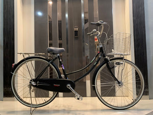 KAWASAKI 26 INCH 3 SPEED MATT BLACK + FREE BIKE LOCK