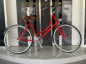 GAZELLE CLASSIC 26 INCH ROSE RED 3 SPEED + FREE BIKE LOCK Q5 (CNY GRATE PROMOTION)