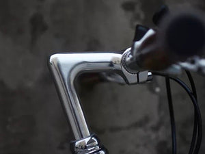 KOLOR FLAT BAR 700C ELECTROPLATED SILVER 7 SPEED S SIZE + FREE BIKE LOCK Q5