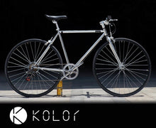 KOLOR FLAT BAR 700C ELECTROPLATED SILVER 7 SPEED L SIZE + FREE BIKE LOCK Q5