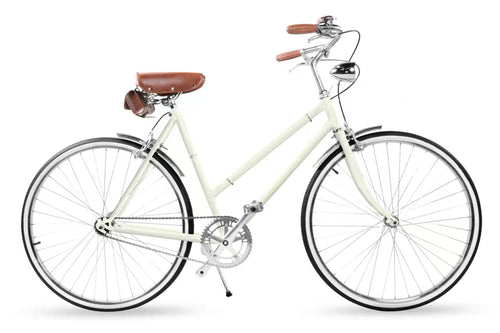 SOMMER CLASSIC 24 INCH CREAM WHITE 3 SPEED + FREE BIKE LOCK Q5 (PREORDER AVAILABLE MID MAY)