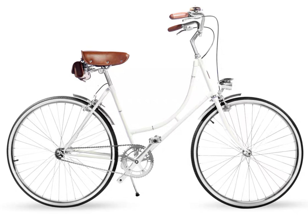 GAZELLE CLASSIC 26 INCH CREAM WHITE 3 SPEED + FREE BIKE LOCK Q5 (PREORDER AVAILABLE NOVEMBER)