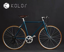 KOLOR FLAT BAR 700C PEACOCK BLUE 7 SPEED S SIZE + FREE BIKE LOCK Q5