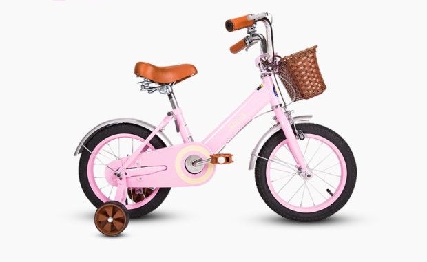 STITCH 14 INCH SWEET PINK (WITH TRAINING WHEELS)