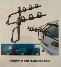 ALACA REAR BICYCLE CAR RACK YT-8048 BLACK FOR 3 BIKES