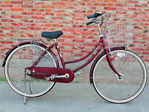 KAWASAKI 24 INCH 3 SPEED DARK RED + FREE BIKE LOCK
