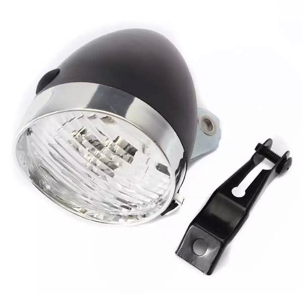 VINTAGE BLACK HEADLAMP 3 LEDs