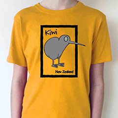Cartoon Kiwi T-shirt - 127KP