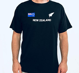 New Zealand Fern & Flag Embroidered - 14WK