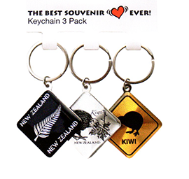 Diamond NZ Key Ring Set - 20694 SET OF 6