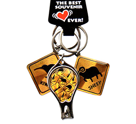 NZ Kiwi & Sheep Key Ring Set - 20697 SET OF 6