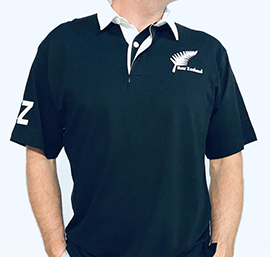 New Zealand Short Sleeve Rugby Shirt - 271R