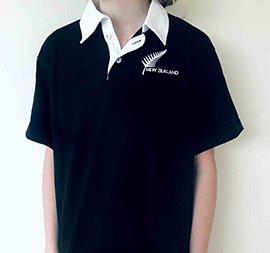 New Zealand Short Sleeve Rugby Shirt - 275R CHILD