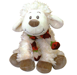 Smiley New Zealand Sheep With Scarf - 30525