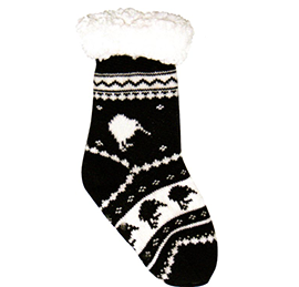 CHILD Fluffy Kiwi Socks - 55297 SET of 2